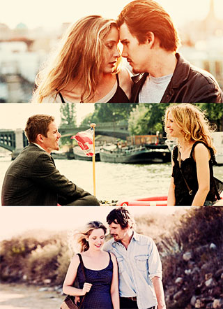 """Before Sunrise"" (1995), ""Before Sunset"" (2004), and ""Before Midnight"" (2013)"