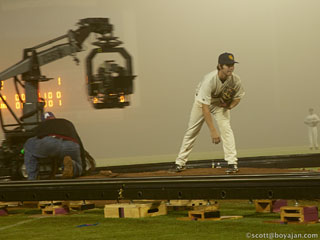 Check out some behind the scenes photos by Scott Boyajan, revealing how they rigged the dolly.