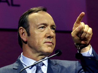 Kevin Spacey on the future of television - video. Photo via ITN / The Guardian.