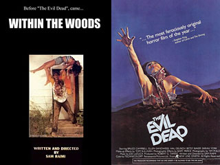 "1978 short (left) led to the 1981 feature, ""The Evil Dead."""