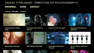 Example Website for a Cinematographer