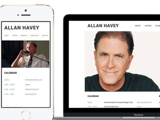 Brand-new website for Allan Havey